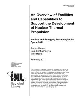 Primary view of object titled 'An Overview of Facilities and Capabilities to Support the Development of Nuclear Thermal Propulsion'.