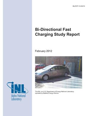 Primary view of object titled 'Bi-Directional Fast Charging Study Report'.