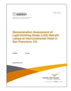 Primary view of object titled 'Demonstration Assessment of Light-Emitting Diode (LED) Retrofit Lamps at Intercontinental Hotel in San Francisco, CA'.