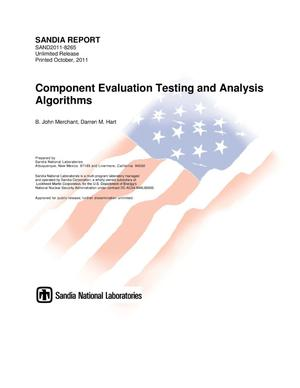 Primary view of object titled 'Component evaluation testing and analysis algorithms.'.