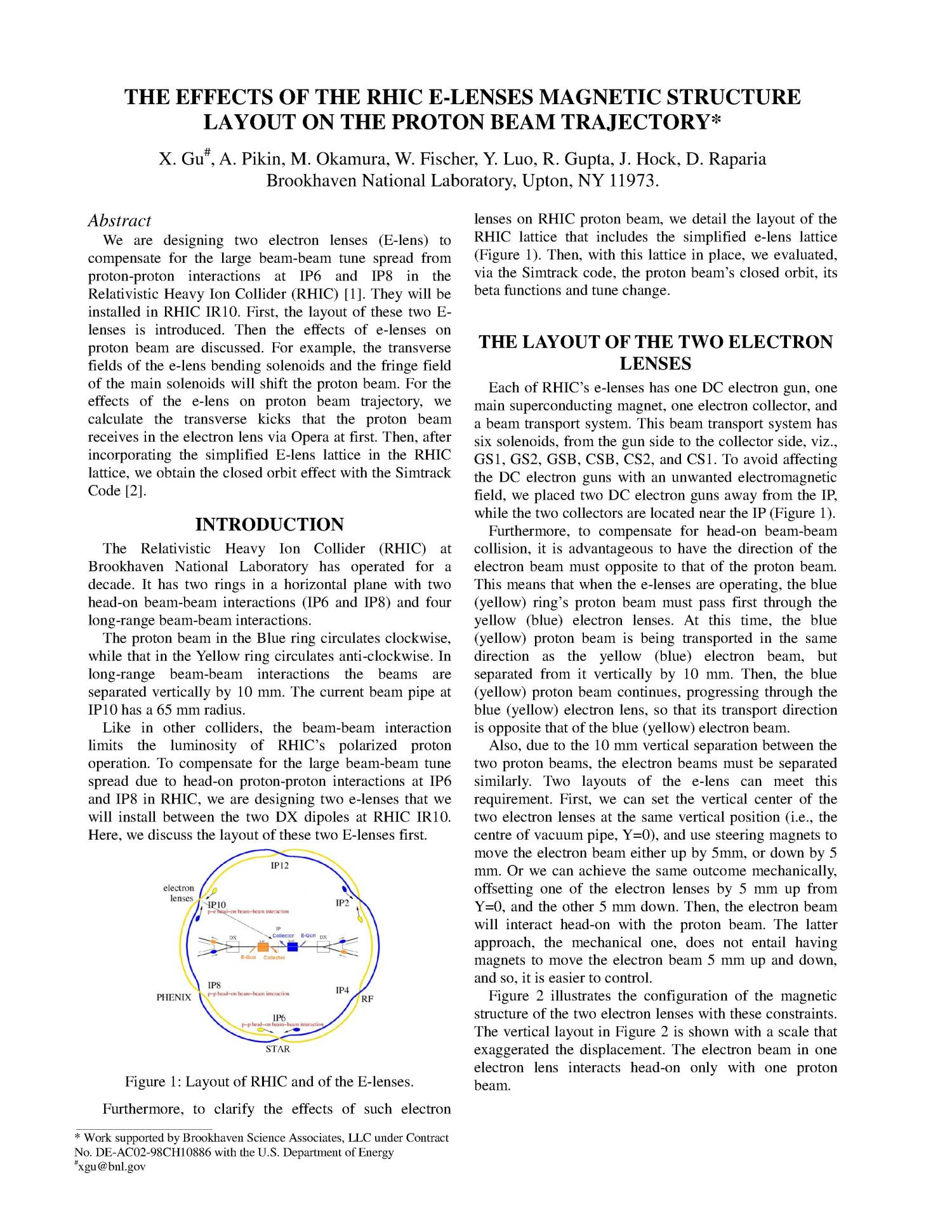 The effects of the RHIC E-lenses magnetic structure layout on the proton beam trajectory                                                                                                      [Sequence #]: 3 of 5