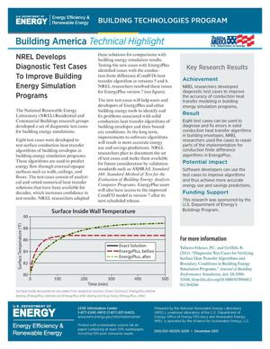 Primary view of object titled 'NREL Develops Diagnostic Test Cases to Improve Building Energy Simulation Programs (Fact Sheet)'.
