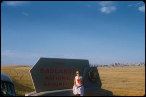 Primary view of object titled 'Badlands marker with Mildred Zichner, 5:30am'.