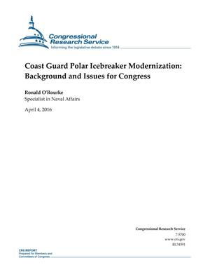 Primary view of object titled 'Coast Guard Polar Icebreaker Modernization: Background and Issues for Congress'.