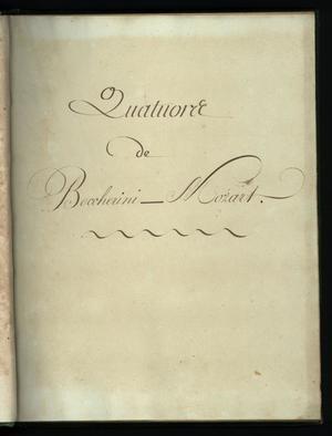 Primary view of Quatours de Boccherini - Mozart - violin 2