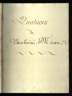 Primary view of Quatours de Boccherini - Mozart - violin 1