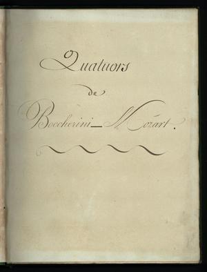 Primary view of Quatours de Boccherini - Mozart - basso