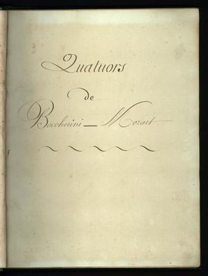 Primary view of Quatours de Boccherini - Mozart - viola