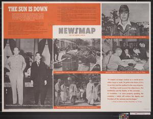 Primary view of object titled 'Newsmap for the Armed Forces : the Sun is down'.