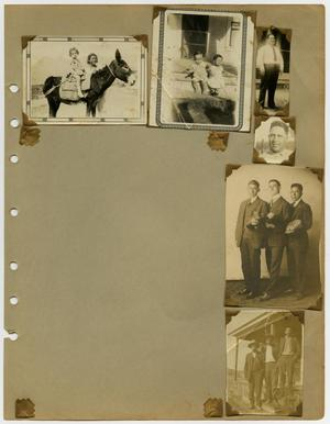 "Primary view of object titled '[Album page with six photos ""donkey""]'."
