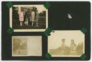 "Primary view of object titled '[Page album with 4 photos ""Outdoor"" portraits]'."