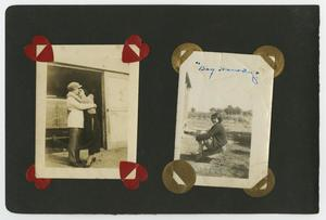 "Primary view of object titled '{Album page with three photos ""Cuellar Cafe""]'."