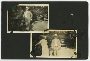 "Primary view of object titled '[Album page with three photos ""bridges""]'."