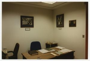 Primary view of object titled '[Office At Willis Library After Owsley Foyer Dedication]'.