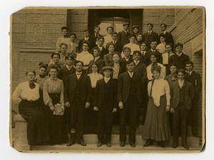 Primary view of object titled '[Students, North Texas State Normal College, c.1904]'.