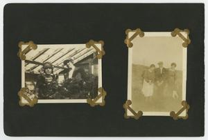 "Primary view of object titled '[Album page with four pages ""garden/lawn""]'."