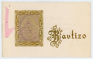 Primary view of object titled '[Baptism announcement card]'.