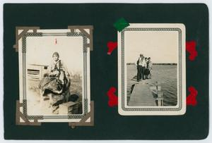 "Primary view of object titled '[Album page with four photos ""cattle""]'."
