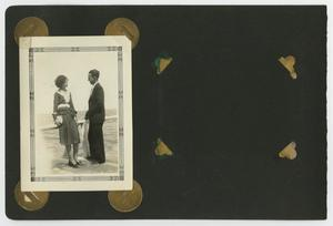"Primary view of object titled '[Album page with two photos ""couples""]'."