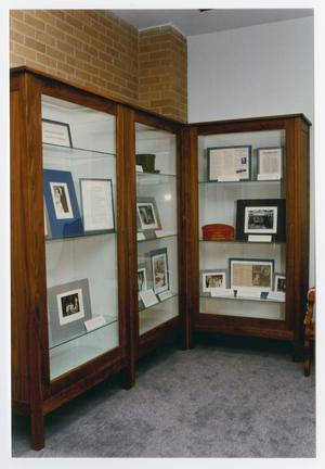 Primary view of object titled 'Owsley Foyer Display At Willis Library'.