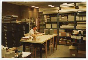 Primary view of object titled '[UNT Archives Department Employee]'.