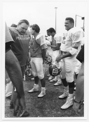 Primary view of object titled '[Necessary Roughness football players 1991]'.