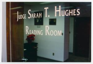 Primary view of object titled '[Judge Sarah T. Hughes Reading Room window]'.