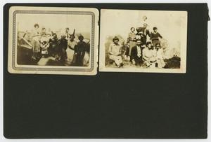 "Primary view of object titled '[Album page with two photos ""large groups""]'."