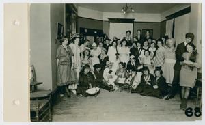 Primary view of object titled '[Students dressed in costumes]'.