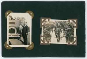 "Primary view of object titled '[Album page with four photos ""carnival""]'."
