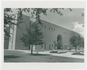 Primary view of object titled '[A.M. Willis Library southeast exterior view]'.