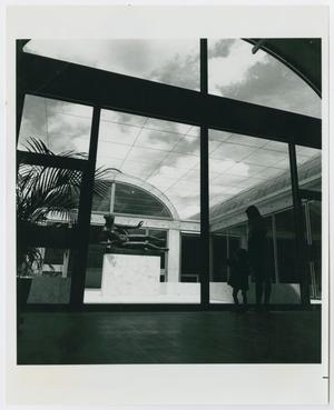 Primary view of object titled '[People inside the Kimbell Art Museum]'.