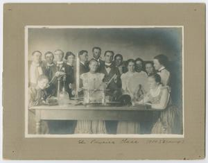Primary view of object titled '[The Physics Class, Spring 1900, North Texas State Normal College]'.