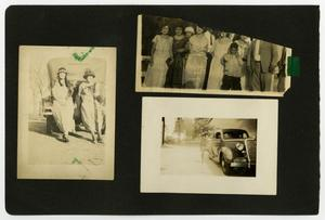 "Primary view of object titled '[Album page with six photos ""cars/groups""]'."