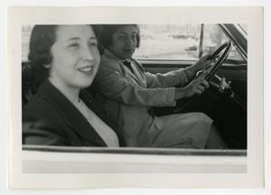Primary view of object titled '[Two women in a car]'.