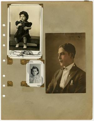 "Primary view of object titled '[Album page with eight photographs ""women and Frank Sr.""]'."
