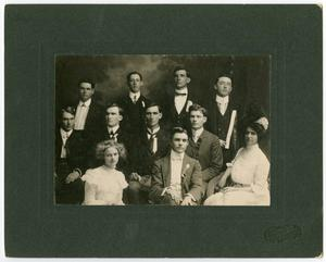 Primary view of [Members of the Spring Oratorical Contest, Spring 1902]