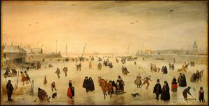 Primary view of object titled 'A Scene on the Ice'.