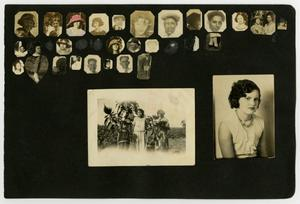 Primary view of object titled '[Album page with portraits]'.