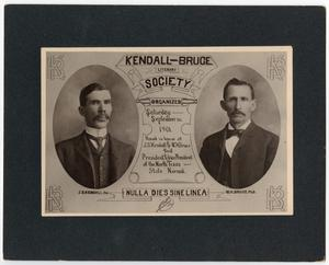 Primary view of object titled '[Kendall-Bruce Literary Society]'.