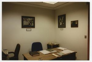 Primary view of object titled '[Office next to the recently dedicated Owsley Foyer]'.