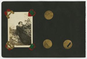 "Primary view of object titled '[Album page with four photos ""groups outdoors""]'."