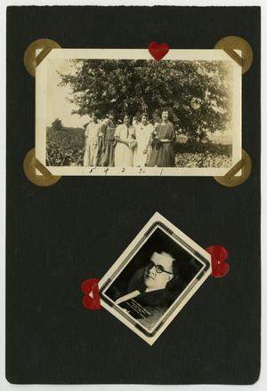 "Primary view of object titled '[Album page with four photos ""groups""]'."