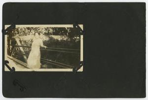 "Primary view of object titled '[Album page with two photos ""bridge""]'."