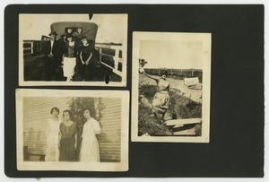 "Primary view of object titled '[Album page with six photos ""road/fences""]'."