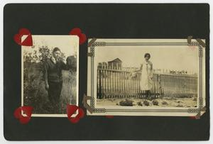 Primary view of object titled '[Photo album with 2 photos]'.
