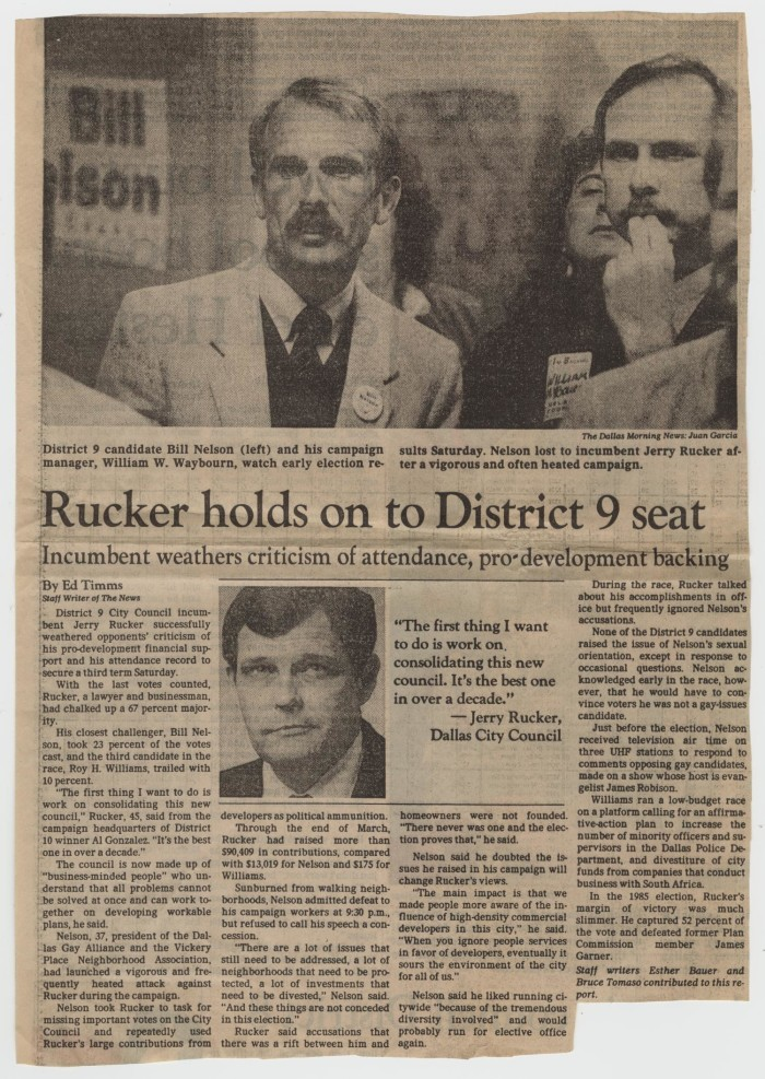 Newspaper Clipping Rucker Holds On To District 9 Seat