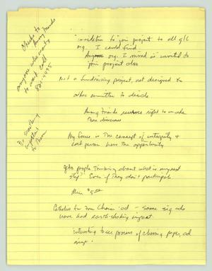 Primary view of object titled '[Handwritten Notes: Among Friends]'.
