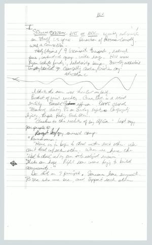 Primary view of object titled '[Copy of Handwritten Notes: Research Notes]'.
