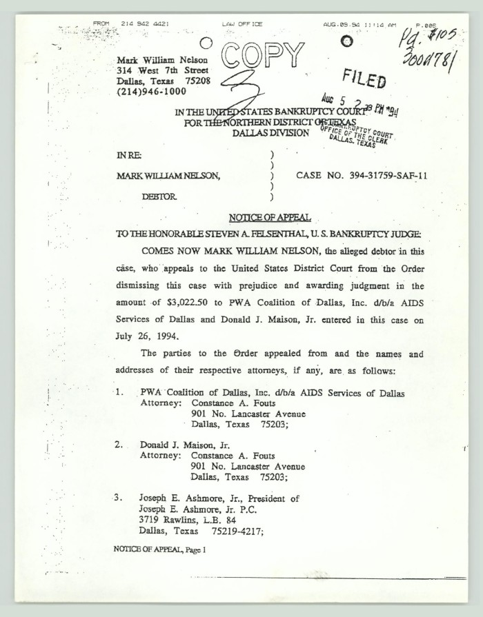 Legal Documents Bankruptcy Court Digital Library - Texas legal documents